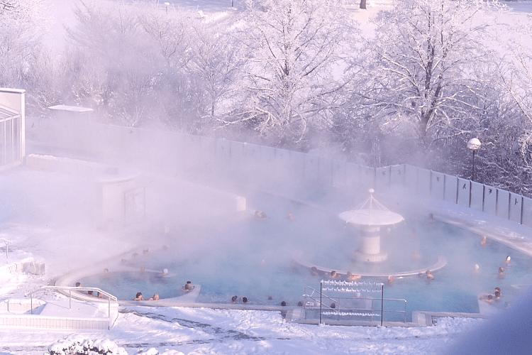 Strömungskanal im Winter